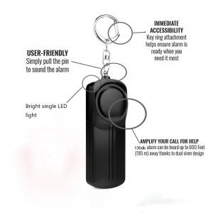 personnelle viol attaque de panique porte-clés torche alarme sécurité Red 140db
