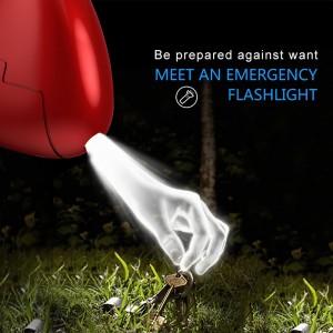 Mulheres Crianças Idosos Super alarme alto SafeSound Segurança Self Defense Led luz Triângulo pessoais