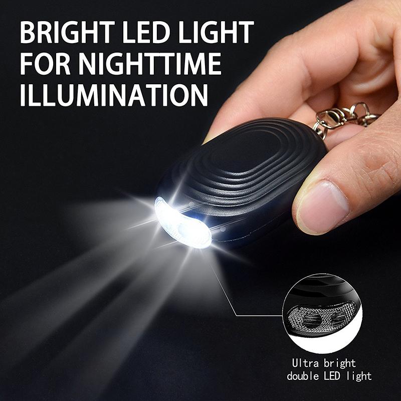 Amazon mest solgte selvforsvar OEM-fabrik pris personlig sikkerhed alarmudstyr med LED lys Featured Billede