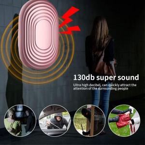 Kvinder Kids Ældre Personlig Alarm Siren Song 130 dB høj lyd nøglering LED alarm