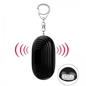 Women Kids Elderly Multi Colors 130 DB LED Light Key Chain Self-Defense Security Personal Alarm Purse Alarm