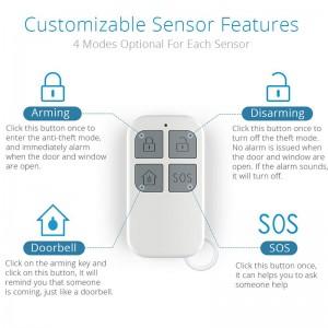 50 feet wireless remote control home security alarm anti theft door sensor alarm