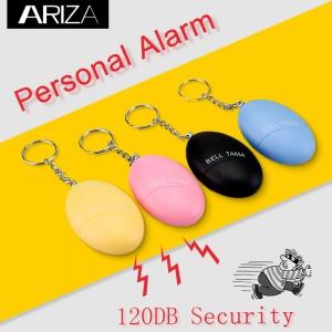 Lound Personal Staff Panic Rape Attack Panic Safety Security Alarm Keyring 120db Personal Alarm