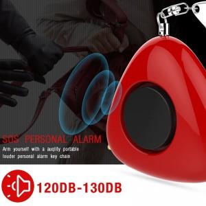 Sistema de Emergência Auto Segurança Defesa 130dB pequena mão portátil buzina sirene realizada portátil LED alarme pessoal Keychain