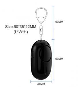 130dB Black Color Siren Sound Pull String Personal Alarm