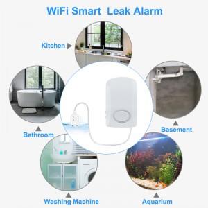 Wireless wifi water leak detector real time smart water sensor alarms