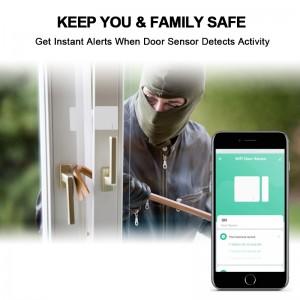 New wifi home alarm system tuya wifi door window alarm sensor