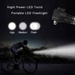 super bright solar rechargeable Tactical portable mini aluminum led torch flashlights